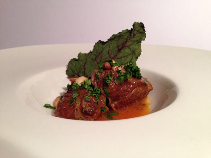 Etiqueta Recetas Alta Cocina. Carrilleras Thai.