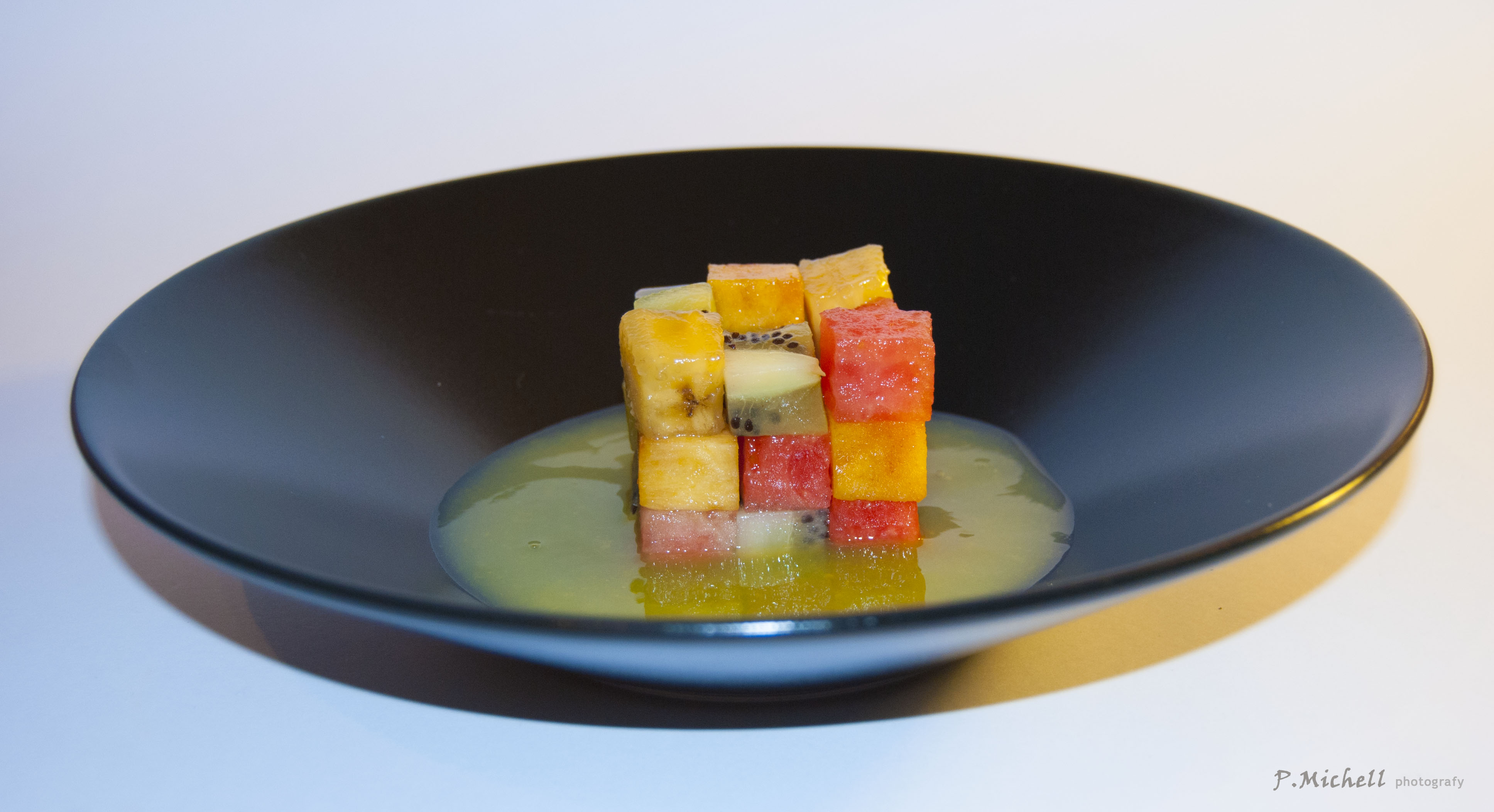 Cubo de rubik de frutas elcocker for Ferran adria platos